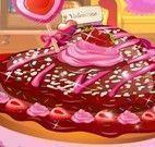 Dora fazer bolo de coração