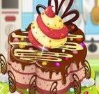 Decoração de bolo na confeitaria