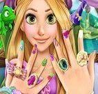 Rapunzel manicure pintar unhas