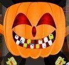 Dentista da abóbora de Halloween