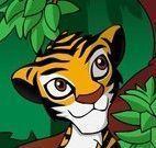 Roupas do tigre bebê