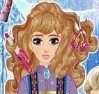 Elsa no cabeleireiro
