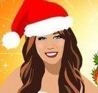 Miley Cyrus roupas para Natal