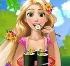 Rapunzel grávida fazer sushi