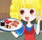 Garçonete do sushi