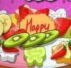 Fazer bolo com frutas