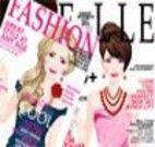 Menina capa de revista