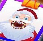 Papai Noel cuidados com dentes