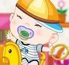 Vestir macacão para bebê