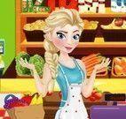 Elsa limpar supermercado