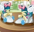 Decoração das botas de inverno