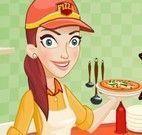 Servir pizza na lanchonete