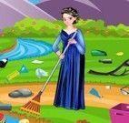 Elsa limpar lago