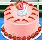 Fazer bolo de morango
