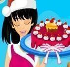 Receita de bolo de natal da menina
