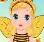 Vestir bebê de abelhinha