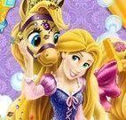 Rapunzel banho do pônei