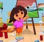 Dora fazer limpeza da sala de artes