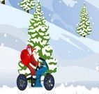 Andar de moto com Papai Noel
