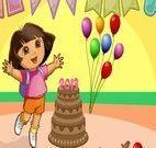 Arrumar festa de aniversário da Dora