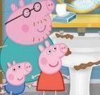 Peppa Pig limpar banheiro