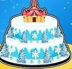 Bolo castelo da Frozen