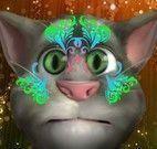 Pintar rosto do gatinho Tom