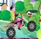 Aventura de moto da menina
