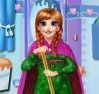 Anna limpar banheiro