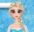 Elsa na lavanderia