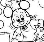 Colorir Mickey cozinheiro