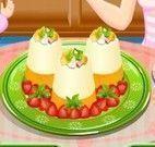 Preparar receita de pudim de frutas