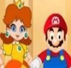 Jogo do Mario de resgatar a princesa Peach no castelo