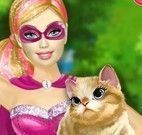 Super Barbie salvar gato