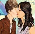 Beijos de Selena Gomez e Justin Bieber