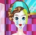 Branca de Neve tratamento facial e maquiar