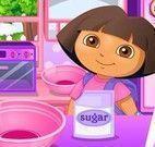 Dora receita de cupcakes de morango