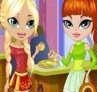 Look das amigas para comer pizza