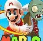 Mario luta contra zumbis