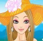 Vestir  e maquiar garotinha