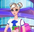 Elsa roupas para escola