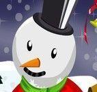 Vestir Dora e decorar boneco de neve