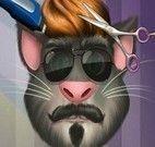 Gato Tom cabeleireiro