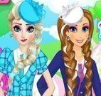 Anna e Elsa frozen roupas escolar