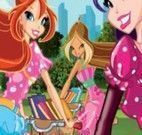 Colorir as Winx Club na Bicicleta