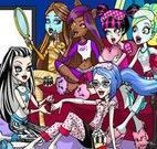 Colorir festa do pijama das Monster High