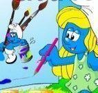 Colorir Smurfs