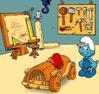 Construir carro com os Smurfs
