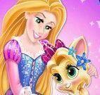 Rapunzel cuidar da gatinha