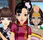 Vestir irmãs chinesas